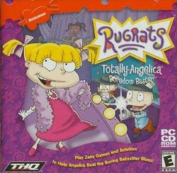 Box artwork for Rugrats: Totally Angelica Boredom Buster.