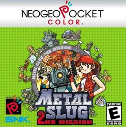 Box artwork for Metal Slug 2nd Mission.