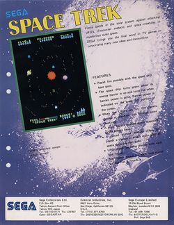 Box artwork for Space Trek.