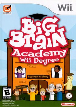 Box artwork for Big Brain Academy: Wii Degree.