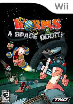 Box artwork for Worms: A Space Oddity.