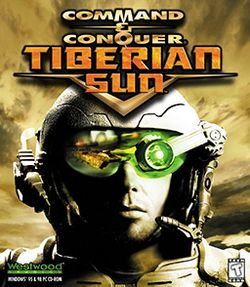 Box artwork for Command & Conquer: Tiberian Sun.
