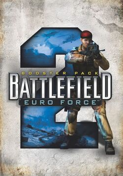 Box artwork for Battlefield 2: Euro Force.