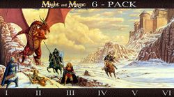 Box artwork for Might and Magic 6 - Pack.