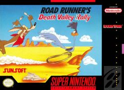 Box artwork for Road Runner's Death Valley Rally.