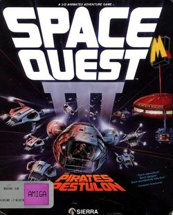 Box artwork for Space Quest III: The Pirates of Pestulon.