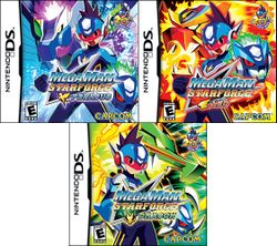 Box artwork for Mega Man Star Force.