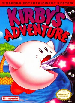 Box artwork for Kirby's Adventure.