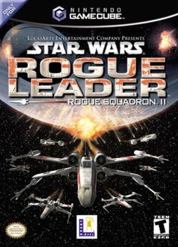 Box artwork for Star Wars Rogue Squadron II: Rogue Leader.