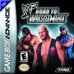Box artwork for WWF Road to WrestleMania.