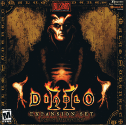Box artwork for Diablo II: Lord of Destruction.