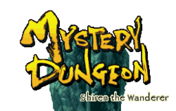 The logo for Mystery Dungeon.