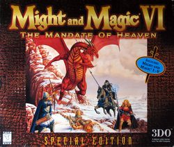 Box artwork for Might and Magic VI: The Mandate of Heaven: Special Edition.