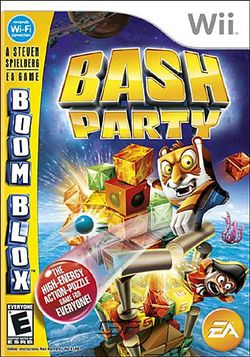 Box artwork for Boom Blox Bash Party.