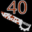 CoD World at War 40 Knives achievement.png