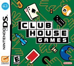 Box artwork for Clubhouse Games.