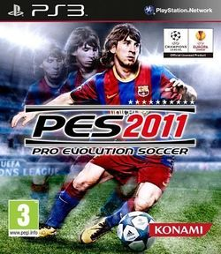 Box artwork for Pro Evolution Soccer 2011.