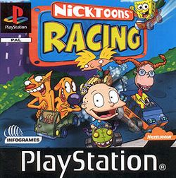 Box artwork for Nicktoons Racing.