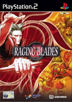 Box artwork for Raging Blades.