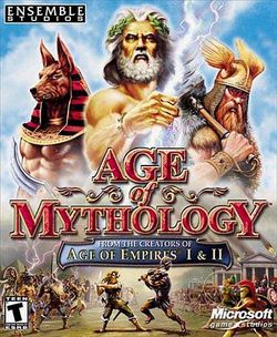 Box artwork for Age of Mythology.