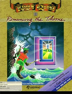 Box artwork for King's Quest II: Romancing the Throne.