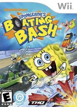 Box artwork for SpongeBob's Boating Bash.