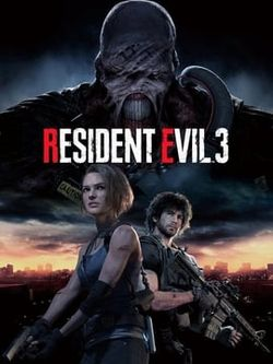 Box artwork for Resident Evil 3 (2020).