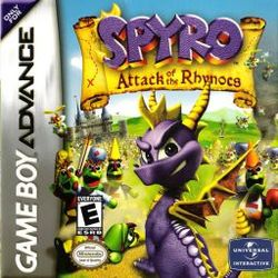 Box artwork for Spyro: Attack of the Rhynocs.