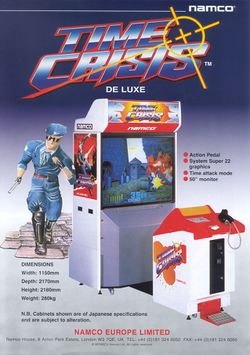 Box artwork for Time Crisis.