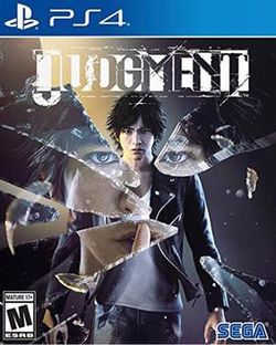 Box artwork for Judgment.