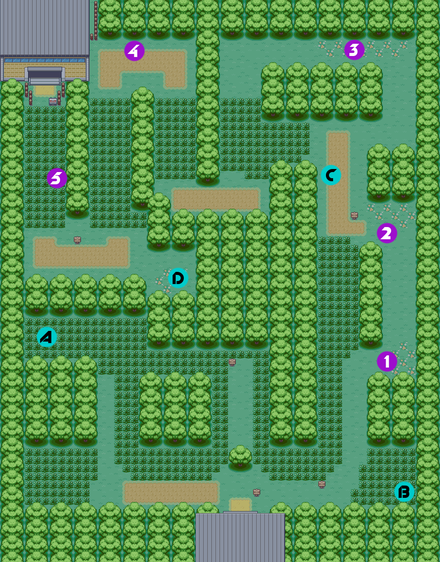 Pokémon FireRed and LeafGreen/Viridian Forest — StrategyWiki, the