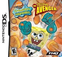 Box artwork for SpongeBob SquarePants: The Yellow Avenger.