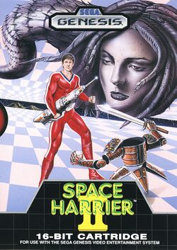 Box artwork for Space Harrier II.