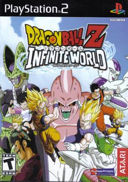 Box artwork for Dragon Ball Z: Infinite World.