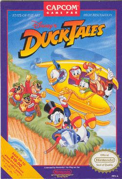 Box artwork for DuckTales.