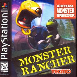 Box artwork for Monster Rancher.