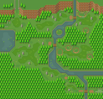 Secret of Mana map Gaia Navel path.png