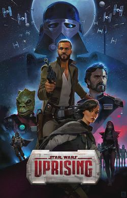 Box artwork for Star Wars: Uprising.
