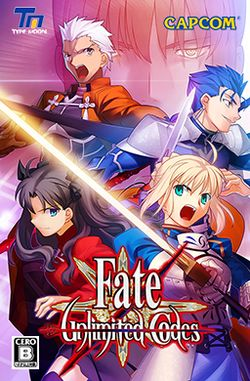 Box artwork for Fate/unlimited codes.