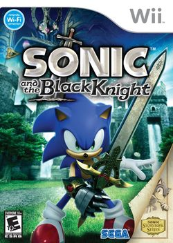 Box artwork for Sonic and the Black Knight.