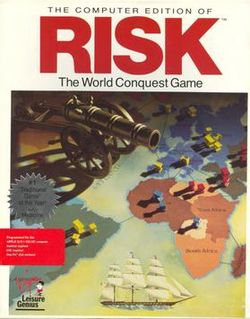 Box artwork for Risk (1989).