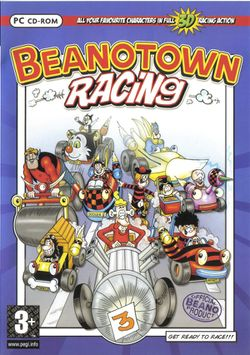 Box artwork for Beanotown Racing.