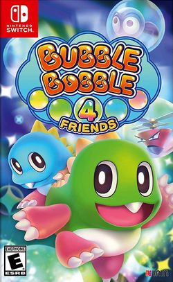 Box artwork for Bubble Bobble 4 Friends.
