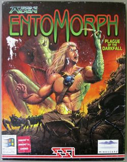 Box artwork for Entomorph: Plague of the Darkfall.