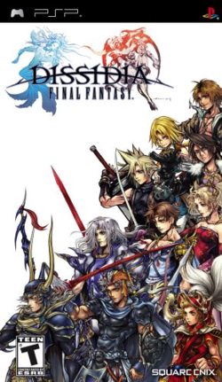 Box artwork for Dissidia: Final Fantasy.