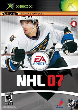 Box artwork for NHL 07.