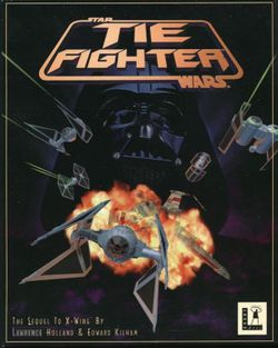 Box artwork for Star Wars: TIE Fighter.