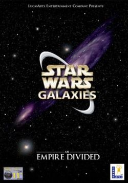 Box artwork for Star Wars Galaxies.