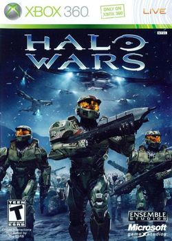 Box artwork for Halo Wars.