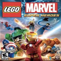 Box artwork for LEGO Marvel Super Heroes.